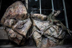 Imitace kořene stromu a skály v ZOO Liberec - Bamboodesign