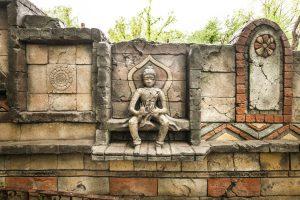 Imitace himalájské zdi v ZOO Zlín - Bamboodesign