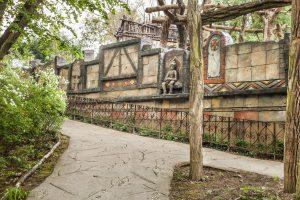 Replika himalájské zdi ze stříkaného betonu v Lešné v ZOO Zlín - Bamboodesign